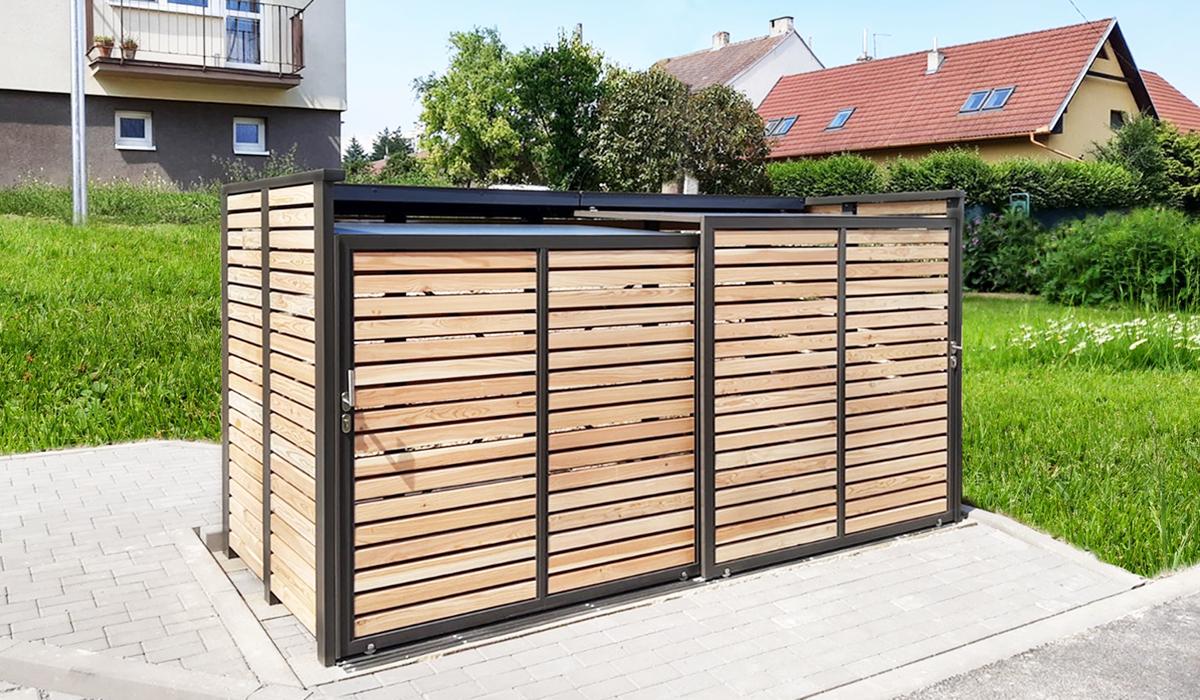 <b>Mülltonnen-Box L Holz</b>