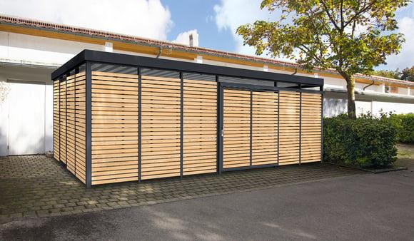 Einhausung Holz Modul-Bauweise