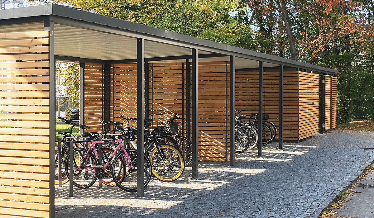 <h5>Bikeport aus Holz</h5>