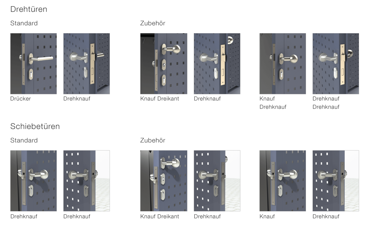Fertig-Bauweise Einhausungen Türen