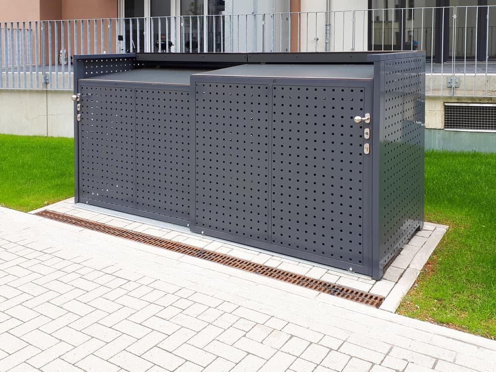 <h5>Kompaktschiebebox Quadratlochblech RAL 7015 (Schiefergrau)</h5>