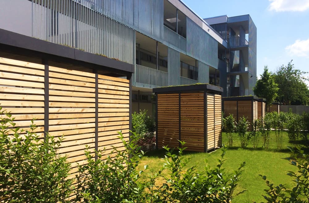 <h5>Einhausungen Modul-Bauweise Holz Kammerprofil</h5>